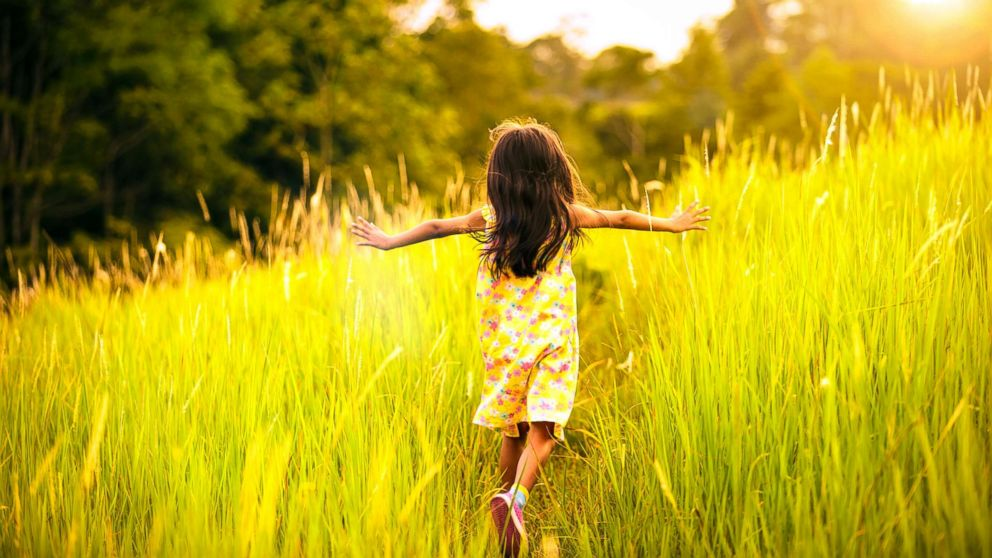 A child runs away